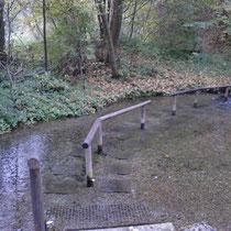 Wassertretbecken in 87740 Buxheim- Ausschilderung ab Friedhof- Richtung Iller (Unterallgäu)