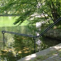 Wassertretanlage in 87600 Kaufbeuren, im Stadtpark (Kreisfreie Stadt - umgeben vom Ostallgäu)