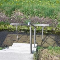 Wassertreten in 86860 Ummenhofen bei Jengen - Weiherweg -Privat - Nutzung gestattet-auf eigene Gefahr! (Ostallgäu)