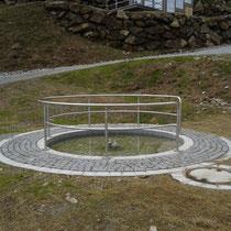 Wassertretbecken in 94252 Bayerisch Eisenstein - Eisensteiner Hütte (Foto: Stephan Pinzl)