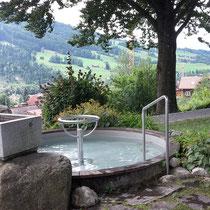 Kneippanlage in 87541 Vorderhindelang, im Kapellengarten, Kapellengasse (Oberallgäu)