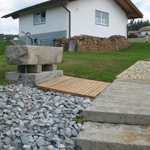 Armbecken in 94545 Hohenau - Naturkneippanlage in Schönbrunn am Lusen (Bild: Tourismusbüro Hohenau)