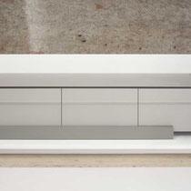 Hifi-Lowboard in Linoleum