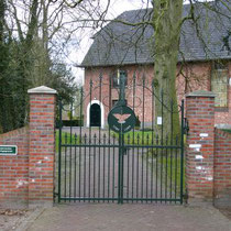 Ingang begraafplaats Nieuwe Pekela