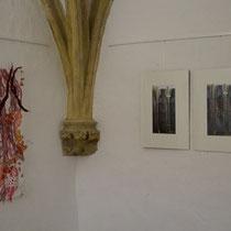 Blick in die Ausstellung: Transparente Erosionen in der Sigismundkapelle