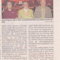 Konzert Frühjahr 2008, Wochenblatt Landstuhl