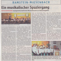 Konzert November 2009, Wochenblatt Landstuhl