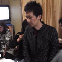 幸子さんのご主人で野菜ソムリエのカンちゃんより野菜の説明。