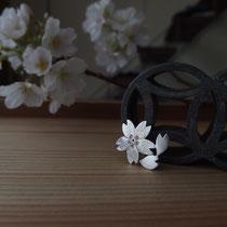 零れ桜 ¥14040(税込) 石 カラーキュービック(ピンク)