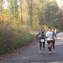 2 wirklich nette Läuferinnen, welche ich hier kennen gelernt habe