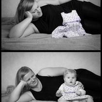 Babybauch vorher nachher
