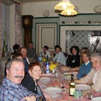 Le repas en table d'hôtes