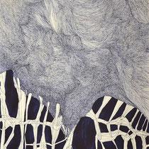 o.T., Tusche/Papier, 65 x 50 cm, 2018