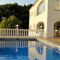 Meerwasser-Pool der Villa Gandia Hills, Ferienwohnung Valencia, November 2011