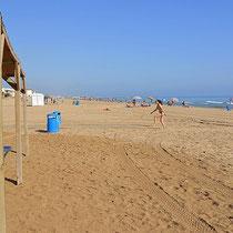 Strand in der Nähe von Oliva, Piles, Gandia