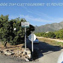 Weg zum Klettergebiet Gandia, Valencia