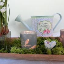 Tischdekoration Frühlingswiese