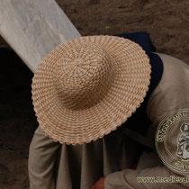 Chapeau de paille mixte Référence:GoSO0492 Taille de 56-59 cm grandeur 39 cm et 10 de haut. Prix: 25 €