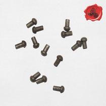 RIVETS ACIER Référence d'achat GDFB/RI/003 S -Tête/head: 7 mm - épaisseur/body: 4,75 mm- Longueur/Length: 12 mm Paquet de 100/Packet of 100 pcs: 6,50 €
