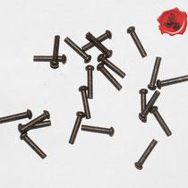 RIVETS ACIER Référence d'achat GDFB/RI/006 S -Tête/head: 6,25 mm - épaisseur/body: 3,75 mm- Longueur/Length: 22,5 mm Paquet de 100/Packet of 100 pcs: 7 €  stock: 3 x 100 pièces