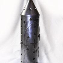 Lanterne en acier forgé - longueur 51 cm largeur 14 cm