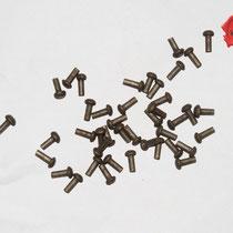 RIVETS ACIER Référence d'achat GDFB/RI/013 S-Tête/head: 7 mm - épaisseur/body: 3,8 mm- Longueur/Length: 13 mm Paquet de 100/Packet of 100 pcs: 6,50 €
