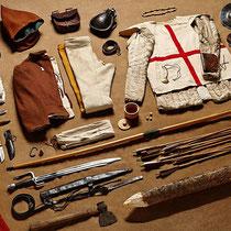Bataille d'Azincourt - tenue d'archer anglais - 1415 - Début XVème