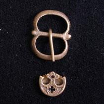Boucle et bouterolle XIV-XVème - pour ceinture de 15-18 mm de largeur  - Réf.: EBS-06 Prix: 6 €
