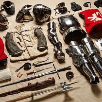 Tenue de soldat dans la bataille de Bosworth - 1485 - Fin XVème
