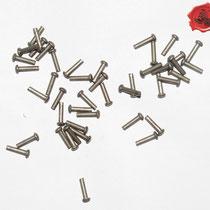 RIVETS ACIER Référence d'achat GDFB/RI/005 S -Tête/head: 5,25 mm - épaisseur/body: 3 mm- Longueur/Length: 15 mm Paquet de 100/Packet of 100 pcs: 5 €