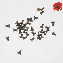 RIVETS ACIER Référence d'achat GDFB/RI/017 S-Tête/head: 9 mm - épaisseur/body: 4 mm- Longueur/Length: 9,5 mm Paquet de 100/Packet of 100 pcs: 5,50 €