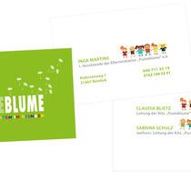 Visitenkarten für den Kindergarten Pusteblume