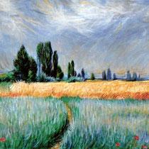 Copia da CAMPO DI GRANO di Claude Monet