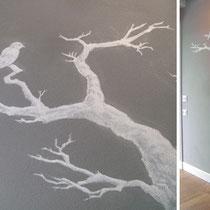 colori acrilici su muro