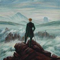 Copia da VIANDANTE SUL MARE DI NEBBIA di Caspar David Friedrich