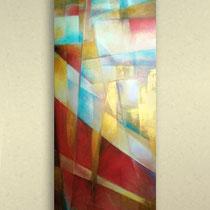 pannello decorativo - colori acrilici su tela
