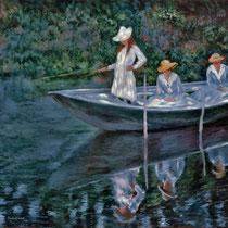 Copia da BARCHE A GIVERNY di Claude Monet