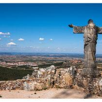 De la Serra da Marofa (977m), vue sur Figueira de Castelo Rodrigo et Castelo Rodrigo (Portugal 2009)