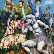 David und seine Zeitgenossen | Oil on canvas | 200 x 160cm | 2018