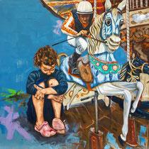 Carousel | Oil on canvas | 110 x 120cm | 2017