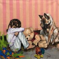Playground | Oil on canvas | 114 x 124cm | 2017