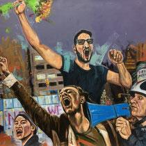 Freedom? | Oil on canvas | 110 x 120cm | 2017
