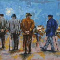 Altern in der Ferne | Oil on canvas | 130 x 160cm | 2017