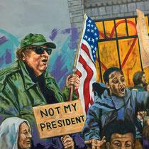 Not my President | Oil on canvas | 110 x 120cm | 2017