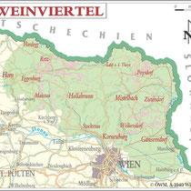 Weinanbauflächenkarte Weinviertel - ÖWM/Photograph