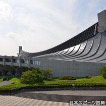 Adjacent to Yoyogi Park are gymnastic halls under reconstruction preparing for the next Olympics.