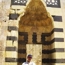 Portal mameluco en interior Ciudadela de Aleppo