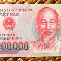 Anverso del billete de 200.000 dong de Vietnam de 2007