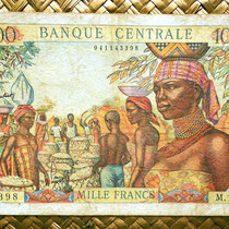Africa Ecuatorial 1000 francos 1963 anverso (158x100mm)