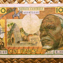 Africa Ecuatorial 100 francos 1963 anverso (120x82mm)